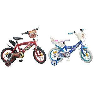 Toims Cars Vélo Enfant 14″ – 3/5 Ans & Toims Reine des Neiges Vélo Enfant 14″ – 4/6 Ans