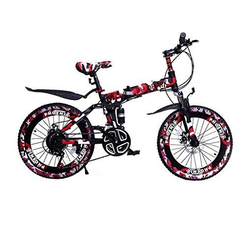 ZTBXQ Sports de Plein air Ville de Banlieue Vélo de Route Vélo Voyage Enfants Vélos Enfants Vélos de Vitesse garçon 6-15 Ans Vélos de Montagne Camo Marron