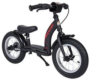 Bikestar Vélo Draisienne Enfants pour Garcons et Filles DE 2-3 Ans ★ Vélo sans pédales évolutive 12 Pouces Classique ★ Noir
