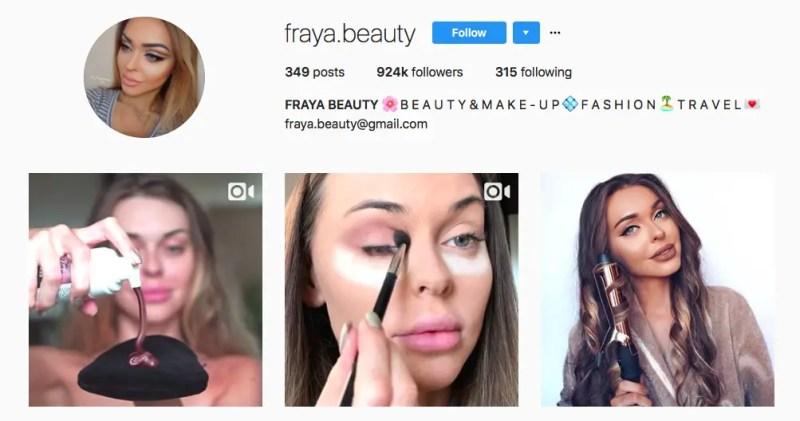 List Of 10 Social Media Beauty Makeup