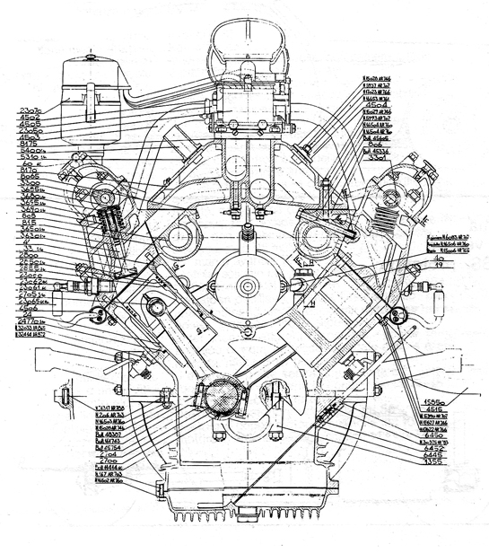 V Six Cylinder Car Engine Cutaway Pictures