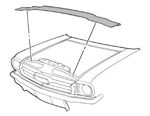 64-70 Ford Mustang Hood Seal C4DZ-16A238-A