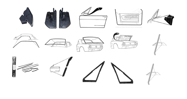 67-68 Ford Mustang Hardtop Body Seal Kit