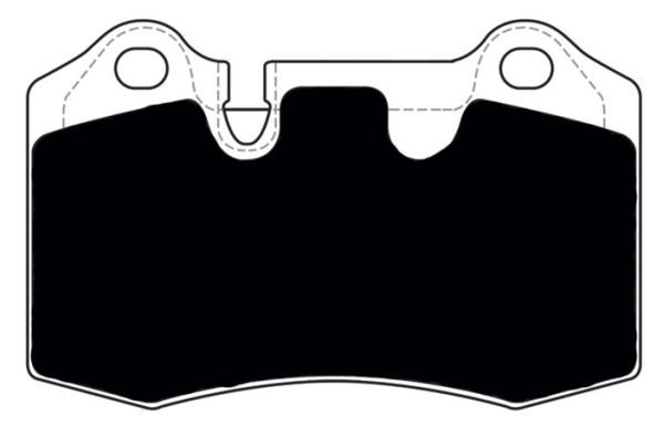 Aston Martin Porterfield R4-S Brake Pads Rear AP 1166