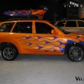 2002 hyundai santa fe like this one crashed into a garage door in
