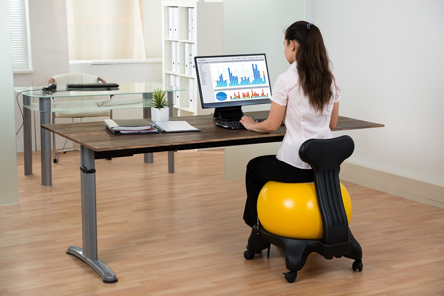 office chair alternatives outdoor rocking chairs for sale 5 to desk when working from home velocity virtual these giant inflatable balls help boost your core muscles which over a long period of time can reduce back pain the balance also