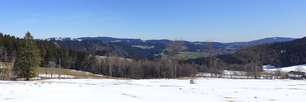 Der Winter weicht dem Frühling, im Skigebiet bei Hinterzarten.