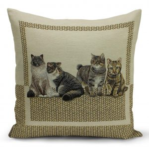 Decorative case gobelin with four kittens