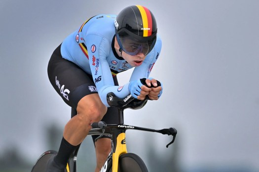 Wout van Aert stung by another second place as Filippo Ganna spoils Belgian party