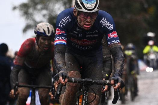 Mathieu van der Poel: 'My legs were gone' in epic Paris-Roubaix debut