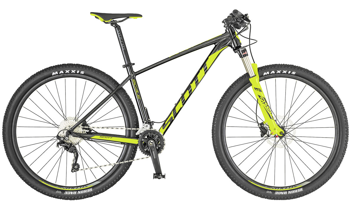 Велосипед Scott SCALE 990 29 black-yellow Черный 269743