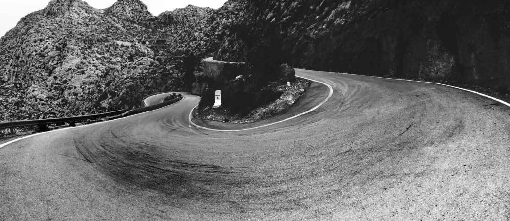 arty picture of a curvy road