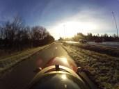 Solen skinner smukt på Strada