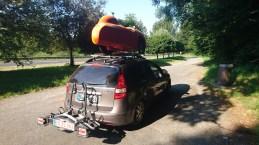 Måtte i bil med vanddrop og Aircon