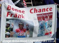 Luxemburg fans back Frank Scelke.