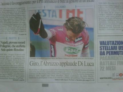 Front page - Messaggero - Abruzzo.