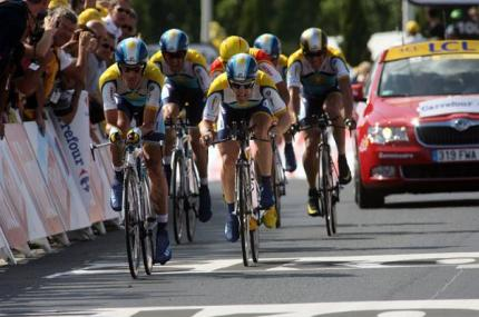 Astana, winners on the day. LaNce and Bert wanted to put the race beyond as many others as possible today.