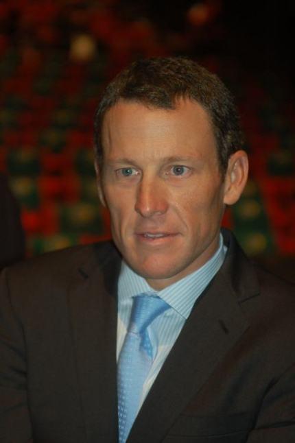 Lance Armstrong, looking more statesman-like than ever.