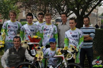 Tom's team, Bic2000, as the French Team Champions for 2009.