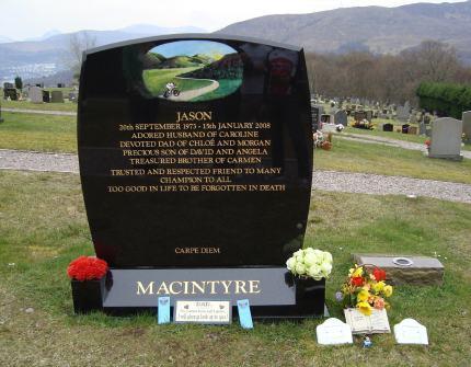 Jason's headstone has the best view down Loch Linnhe towards Ben Nevis.
