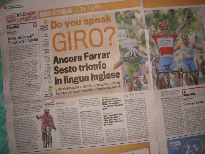 English speaking riders are winning stages - TTT apart, Italians aren't.
