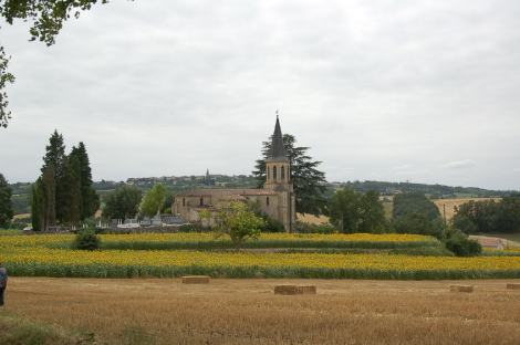 Town church in the distance.