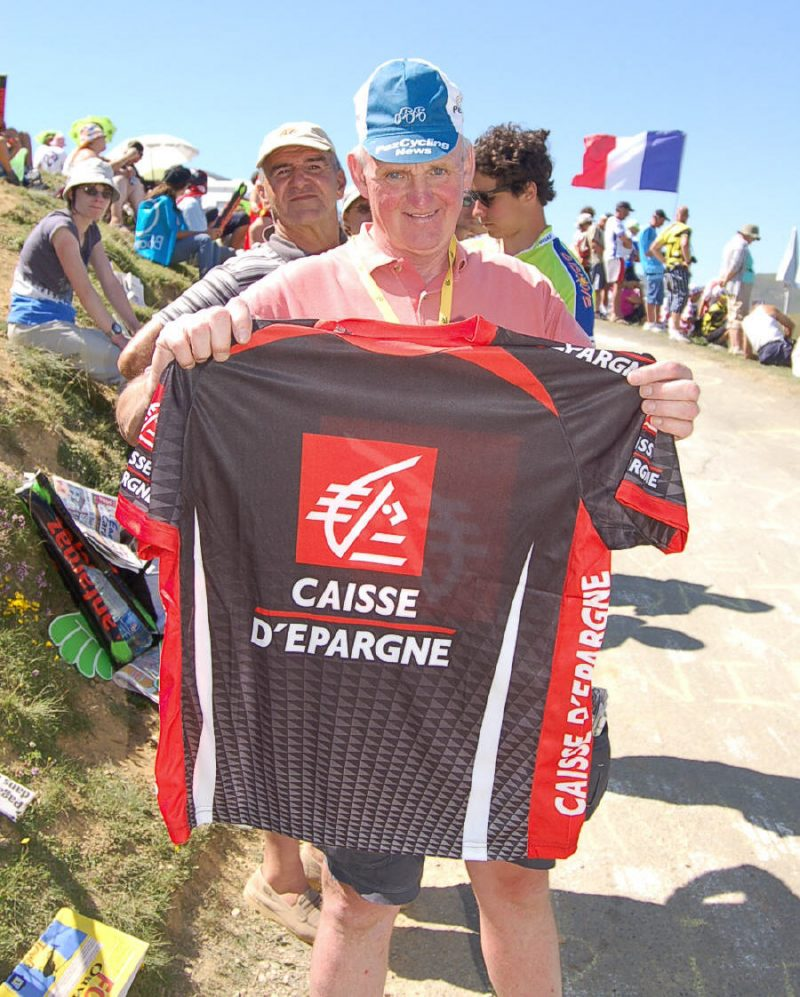 Dave with his Caisse jersey.