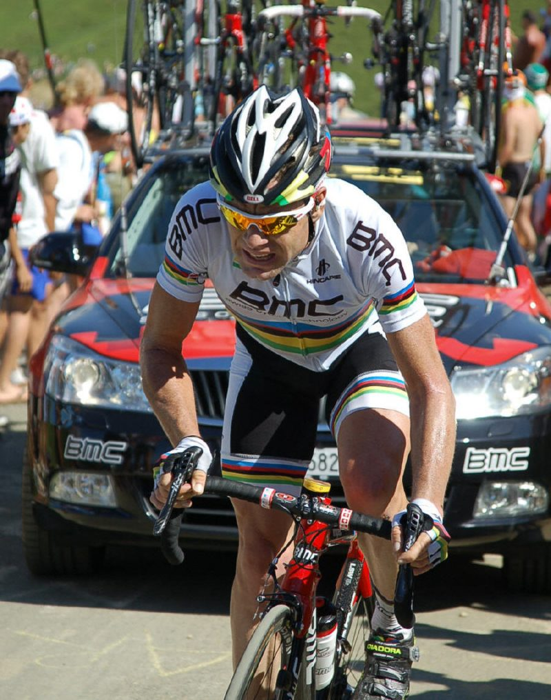 Cadel churns upwards.
