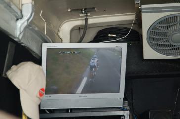 A peek inside a TV truck.