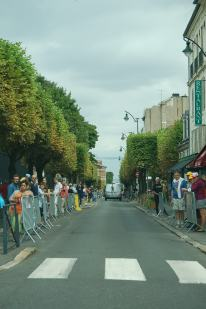 Fans line the streets with hours to go.