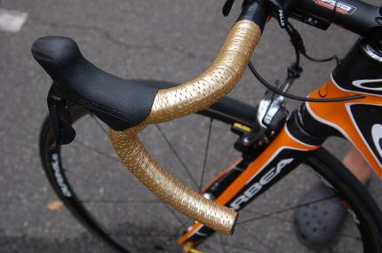 The gold tape makes the bars look even deeper.