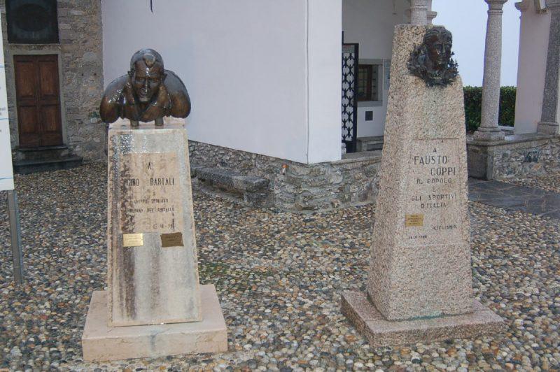 Bartali and Coppi monument.
