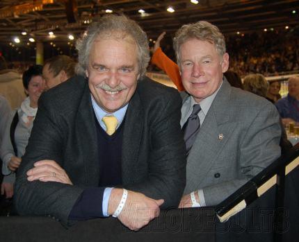 Ralph Schuermann (L) with Jack Simes.