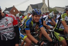 Chris at start of his first race for new team Eurasia.