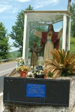 We pass a shrine to Padre Pio; the saintly, late priest has a strong connection with our last port of call, Cassino.