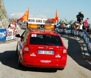 The lead car roars past, building the tension - who are we going to see first?