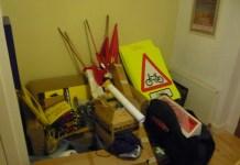 Just a small part of an organiser's equipment.