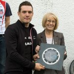 James with Councillor Ann Galbraith, who was a huge help in getting a lot of the roads resurfaced in time for the race.