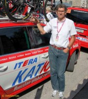 Hans-Michael Holczer, team manager of the Katusha team.