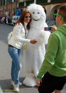 Ed's favourite mascot, the Skoda Yeti.