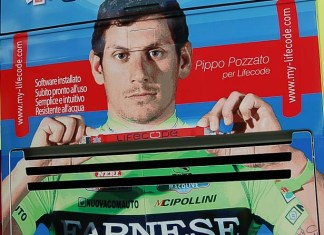 Pippo looks great on the back of the Farnese Vini bus, it's just a pity he's at home - but as Scott Sunderland once said to us; 'he's such a girl, sometimes !'