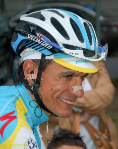 A man who's looking scarily fit to us, has a stage win to his credit and is currently third on GC, is Paolo Tiralongo.