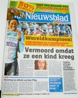 Up at the press centre there are free copies of the Flemish Het Nieuwsblad paper – the one that sponsors the race, yes – and Tomeke dominates the front cover.