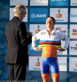 Marianne Vos enjoys her special moment.