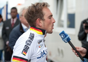 World Elite RR Champs 2012-4th place John Degenkolb (Germany) tell the German media what went wrong