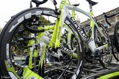The spare Farnesi Vini Cipollini bikes.