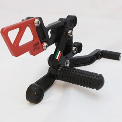 RSV4 Black and Red Rearsets