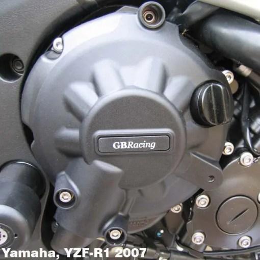 EC-R1-2007-2-GBR YZF-R1 GEARBOX / CLUTCH COVER 2007 - 2008
