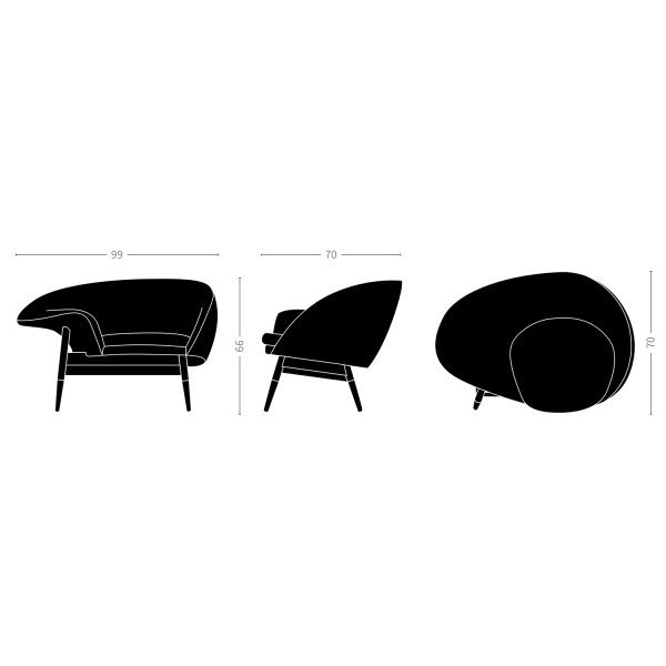 fried egg chair black outdoor rocking canada velvet point armchairs easy chairs lounge sheep designed by h olsen solid teak