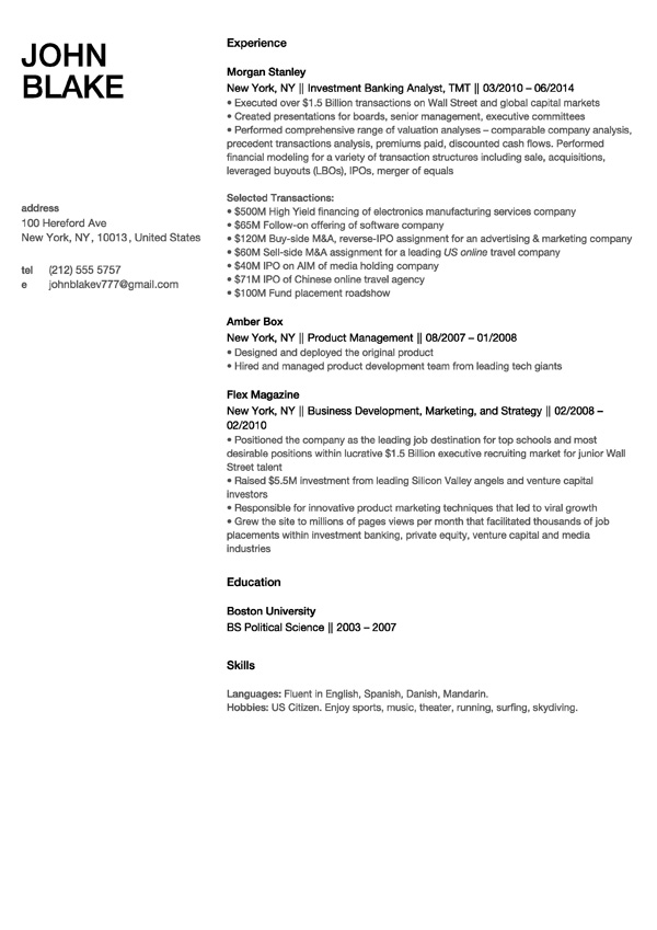 create resume template online